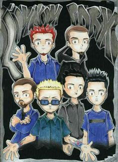 I just love how the artist, drew Linkin Park here. 📝🎸🎧🎹🎤💿X lp