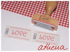 Stempel für Wertmarken ♥Love♥ von athena auf DaWanda.com