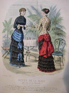 1881 Revue de la Mode : Gazette de la Famille
