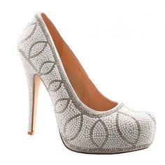 Danielle By Lauren Lorraine http://www.bellissimabridalshoes.com/trends/platform-wedding-shoes/Danielle-By-Lauren-Lorraine