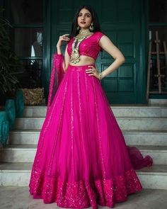 """SINDHU REDDY DESIGN HOUSE® ️ on Instagram: """"@_thefashionpsychic_ looking effortlessly stunning in our pink organza lehenga.. 💖 ————————————————————————————————————— #pink #pinklove…"""" Choli Designs, Lehenga Designs, Ghaghra Choli, Bridal Lehenga Choli, Pink Love, Fashion Boutique, Ball Gowns, Formal Dresses, Womens Fashion"""