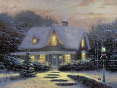 Christmas Eve is plain, simple, and an expression of my ongoing love affair with the Christmas season. This wonderful old stone cottage allows me to express the lights, mood, and magic of one of the most wonderful seasons of the year.