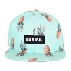Pineapple Print SnapBack Perfect for the beach! Looks great with a bikini! Burisil Accessories Hats