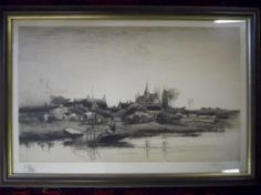 Etching, STEPHEN PARRISH, (1846-1938)  www.JJamesAuctions.com