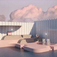 11 Digital Surrealists: 3D artists creating dreamlike spaces Home Interior, Interior And Exterior, Interior Design, Futuristic Architecture, Interior Architecture, Chinese Architecture, Minimalist Architecture, Modelos 3d, Aesthetic Rooms