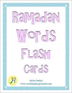 Ramadan Words Flash Cards | Arabic Playground