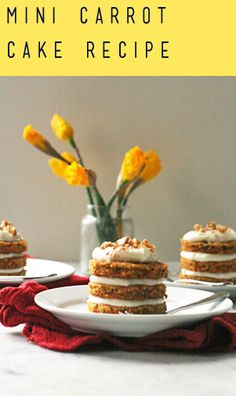 Mini Carrot Cakes | Recipe