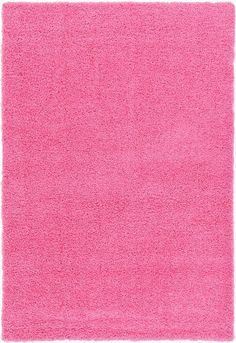 Pink Solid Frieze Area Rug