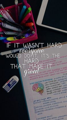 If it was easy everyone would do it #study // follow us @motivation2study for daily inspiration