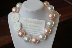 Chunky Gumball Necklace for little girl or newborn.  Great photo prop too!
