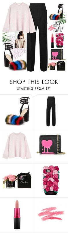 """Love melts"" by geld-1 ❤ liked on Polyvore featuring Loeffler Randall, Rick Owens, Ille De Cocos, Love Moschino, Kate Spade and MAC Cosmetics"
