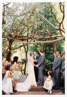 California forest wedding via 100 Layer Cake