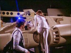 Erin Gray as Col. Wilma Deering, Buck Rogers in the Century. Sci Fi Tv Series, Sci Fi Tv Shows, Bikini Beach Pics, Buck Rodgers, Rogers Tv, Erin Gray, Science Fiction Series, Tv Show Music, Barbarella