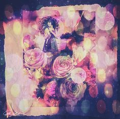 Roses-4 Photo Collages, Colorful Interiors, Roses, Painting, Art, Craft Art, Pink, Rose, Paintings
