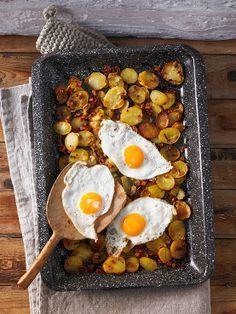Röstkartoffeln vom Blech - Habe ich kürzlich getestet und kann ich nur wärmstenst weiterempfehlen.