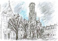 Paris Eglise St Germain d'Auxerre En Hiver - Yann Le Houelleur