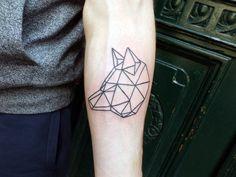 #wolf #geometric #tattoo by Philippe Fernandez