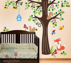 Forest Buddies Wall Decals Nursery Wall Decals PLFR010L - http://babyfur.net/forest-friends-wall-decals-nursery-wall-decals-plfr010l/