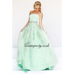 2014 Mint Green Strapless Long Prom Dress