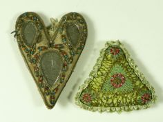 TWO ANTIQUE PIN CUSHIONS SWEETHEART WW1