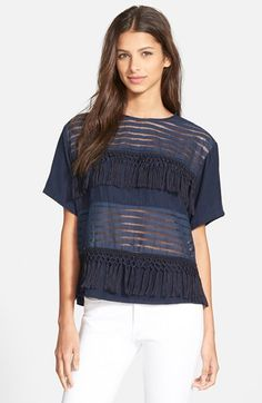 Amour Vert 'Lyra' Fringe Top available at #Nordstrom