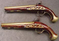 Beautiful flintlock pistols.