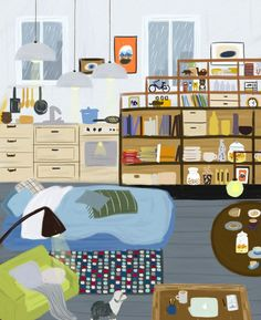 Bright and colourful illustrations by Teddy Kang that offer warmth and charm Kids Rugs, Charmed, Bright, Illustrations, Creative, Inspiration, Color, Home Decor, Kunst