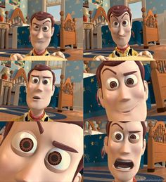 Woody.  I imagine the animators needing to take a break as they get a good laugh out of these :)