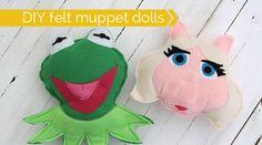 FREE TUTORIAL Muppet-dolls-felt-how-to-sew-kermit-piggy !!!!