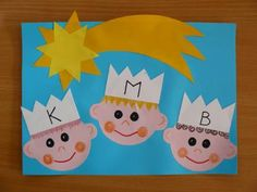 Nakonec jsme napsali na koruny počáteční písmena všech tří králů.
