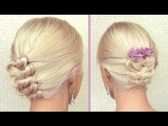 Knotted braid updo for medium long hair tutorial Elegant summer wedding hairstyle Prom hairdo