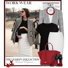 Work Wear by theleakeycollection on Polyvore featuring VILA, Temperley London, Christian Louboutin, Fendi, Arche and princeofwalescheck