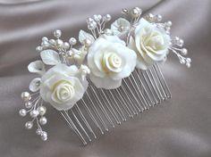 Haarkamm mit Rosen von -LovelyBlossom- auf DaWanda.com