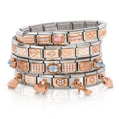 From nominationitalyofficial - Rose Gold Composable Collection Nomination Bracelet, Nomination Charms, White Stone, The Chic, Sophisticated Style, Costume Jewelry, Jewelry Accessories, Rose Gold, Charmed