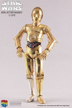 "1/6 Scale Medicom Star Wars C3PO 12"" inch sideshow action figure"