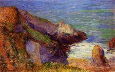 Rochers sur la côte bretonne  Gauguin  1888