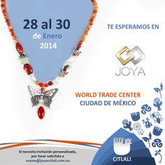 Estamos en Expo Joya en el WTC de la Ciudad de México, si deseas asistir, manda un e-mail a la dirección que aparece en la imagen. ¡Te esperamos!