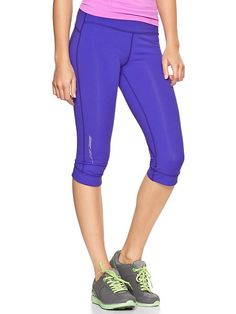 Gap | GapFit gFast cropped capris. Hey husband I want these for Christmas ;) I love the dark purple and coral babe.
