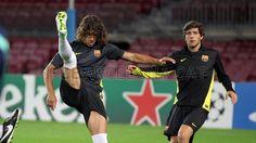 FC Barcelona, entreno 05.11.13 | Carles Puyol en preparación para el encuentro ante el Milan. FOTO: MIGUEL RUIZ-FCB