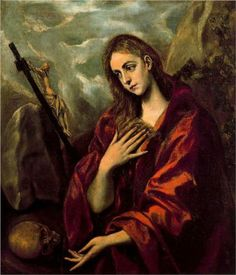 Unknown Artist Penance of Mary Magdalene By El Greco oil painting for sale; Select your favorite Unknown Artist Penance of Mary Magdalene By El Greco painting on canvas or frame at discount price. Spanish Painters, Spanish Artists, Sitges, Hans Baldung Grien, Maria Magdalena, Renaissance Kunst, Jesus Christus, Creta, Ferrat