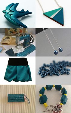 Petrol blue colored stuff by Stefanie on Etsy--Pinned with TreasuryPin.com