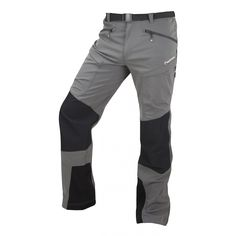 Ultra Tough Strech Water and wind resistant Fast Drying UPF 50+ Reinforced instep Articulation Removable belt 5 pocket configuration Mesh thigh vents Gaiter hooks