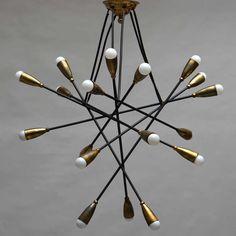 gino sarfatti chandelier | Arteluce Chandelier Attribution - Gino Sarfatti image 2
