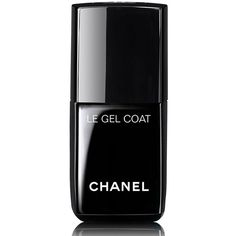 CHANEL LE GEL COAT Longwear Top Coat ($27) ❤ liked on Polyvore featuring beauty products, nail care, nail polish, beauty, makeup, nails, black, fillers, gel nail polish and chanel nail colour