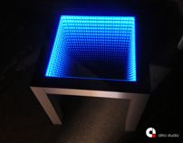 Furniture we offer - LED Table by Altro Studio Projektowanie wnętrz Barba , via Behance