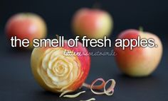 smell of fresh apples Happy Heart, Happy Smile, Make Me Happy, Make You Smile, Are You Happy, One Thousand Gifts, Dont Forget To Smile, Don't Forget, Teen Memes