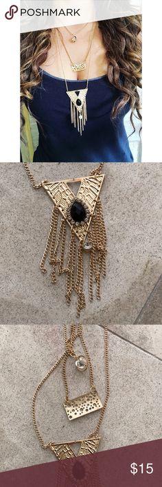 Boho multi gold chain necklace •New   •multi chain  < Jewelry Necklaces