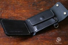 Trifold Biker Wallet with Coin Department Hand Stitched