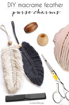Great No Cost Macrame diy purse Tips macrame feather purse charms Macrame Purse, Macrame Art, Macrame Knots, How To Macrame, Macrame Thread, Macrame Mirror, Macrame Curtain, Mason Jar Diy, Mason Jar Crafts