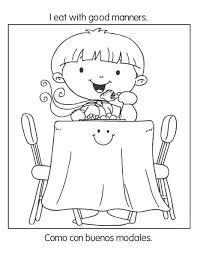 Resultado De Imagen Para Mesa Dibujo Para Colorear Manners Good Manners Coloring Pages
